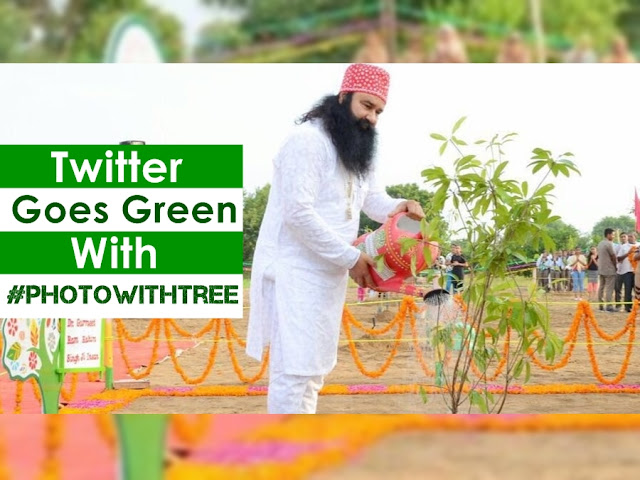 Saint Dr. Gurmeet Ram Rahim Singh Ji Insan planting a tree at dera sacha sauda on his birthday