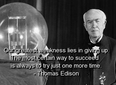 Thomas Edison saying quote