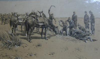'Jagüel', óleo del artista tarraconense don Francisco Fortuny (1865-1942), Museo Enrique Udaondo. Tomado de http://interdefensa.argentinaforo.net/