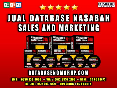 Jual Database Nasabah Sales And Marketing