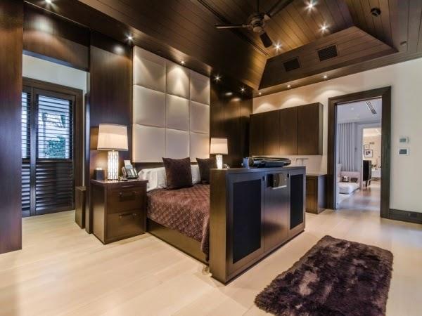 Dormitorio marrón chocolate