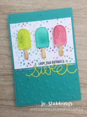 Jo's Stamping Spot - Colour INKspiration Colour Challenge #028 using Cool Treats by Stampin' Up!