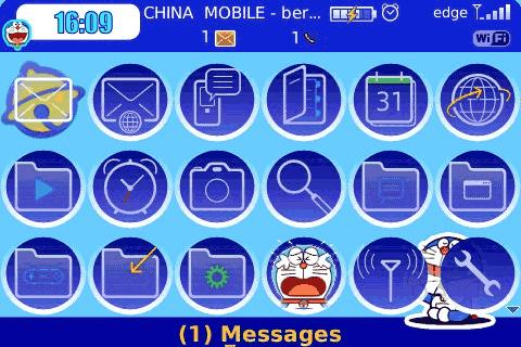 Download Themes Doraemon Blackberry 8520 | Emulator Pack
