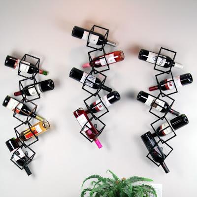 Displaying your wine thru 5 Wine Wall Rack