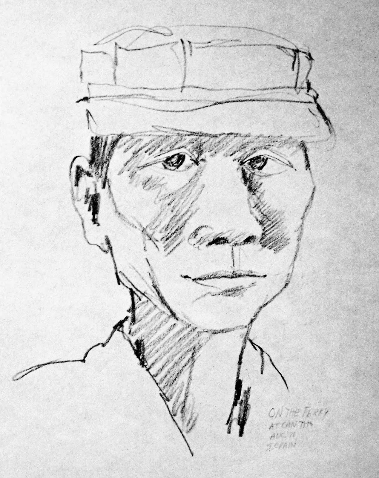 Vietnam Drawings: South Vietnamese Soldier
