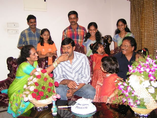 Prabhas Celebrating His Birthday With Family Members