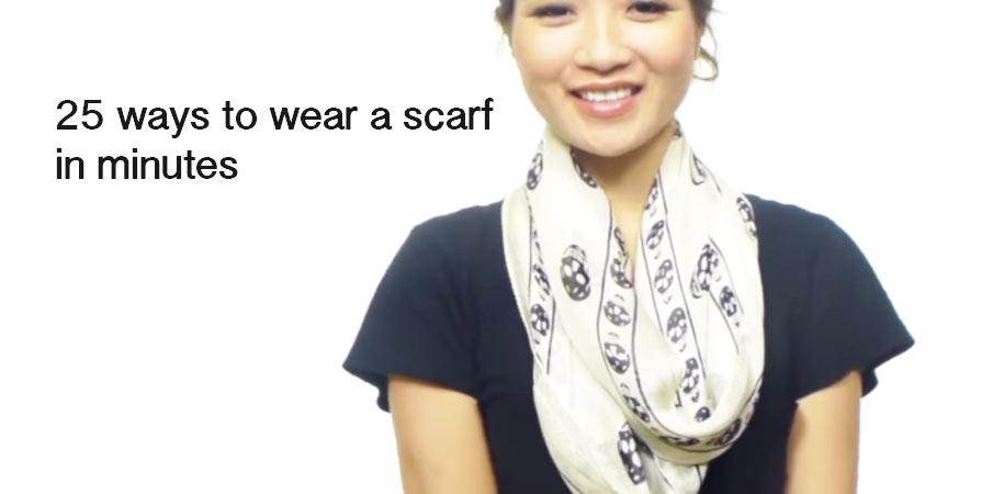 25 easy ways to wear a scarf - HANDY DIY