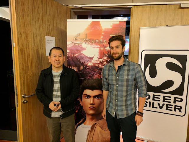 Yu Suzuki with Deep Silver representative Will Power