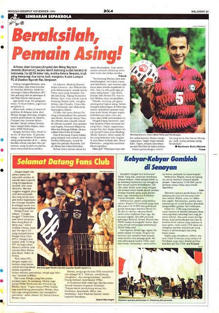 PEMAIN ASING LIGA INDONESIA 1994