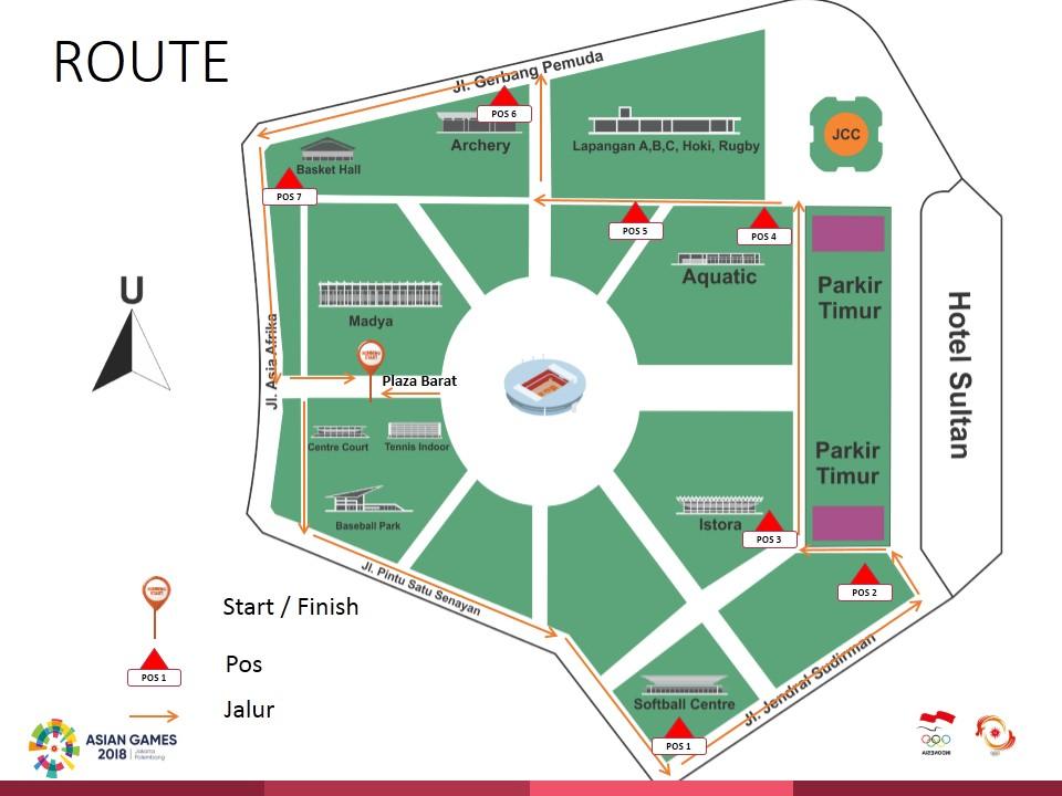 Route Asian Games Fun Run • 2018