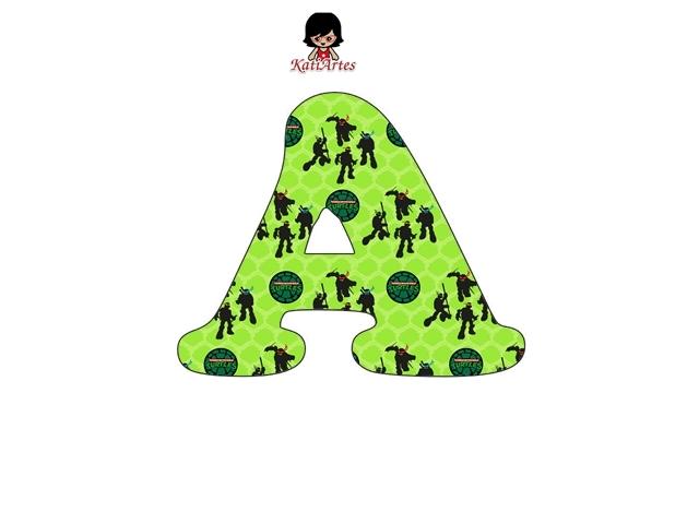 Abecedarui de las Tortugas Ninja. TMNT Alphabet.