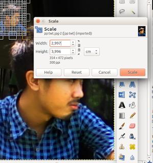 Scale Gambar di GIMP