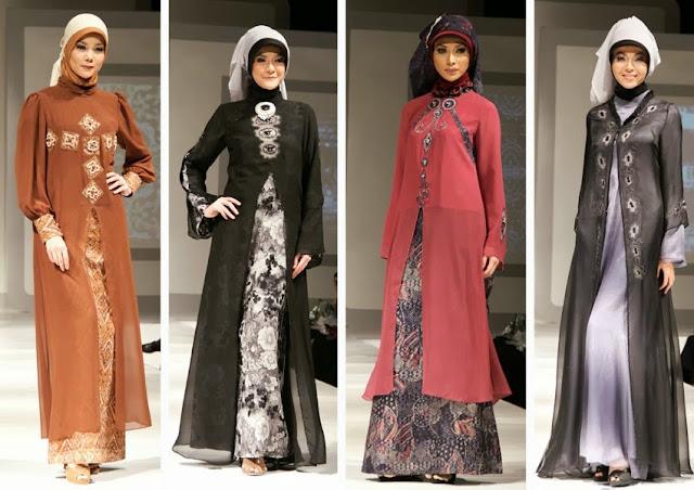 Model Gaun Pesta Muslim Sifon dan Taff Modern Terbaru