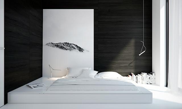 Desain Kamar Tidur Nuansa Hitam Putih Terbaru 2017