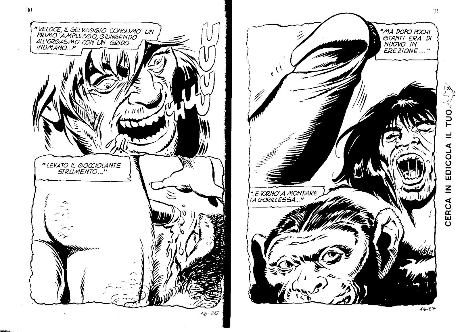 Selvaggio famiglia della giungla porno fumetti
