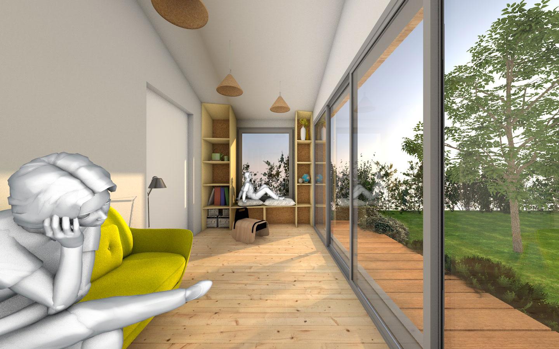 Jardin d 39 hiver interieur maison maison moderne for Jardin interieur