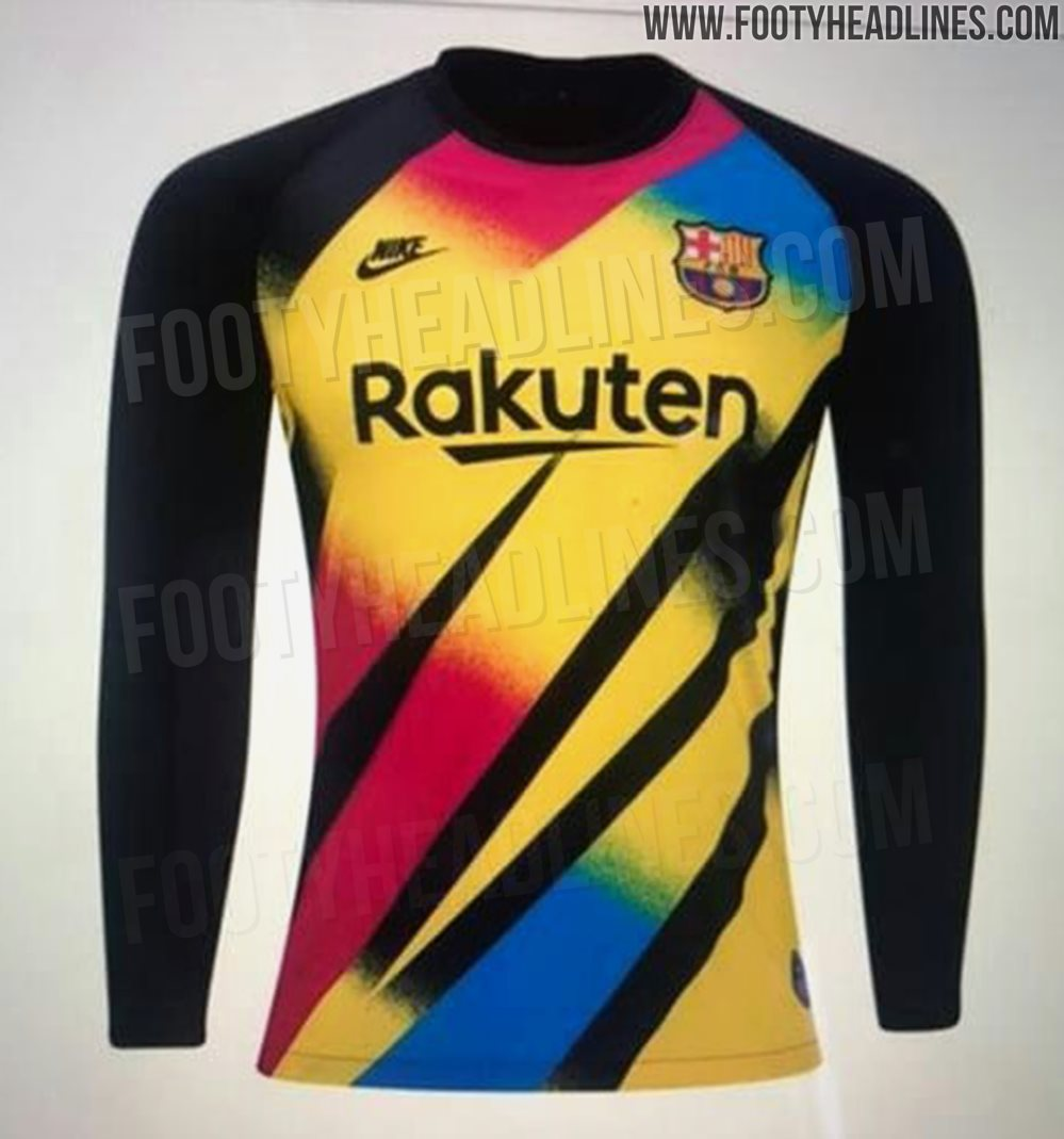 Crazy Nike FC Barcelona 19-20 Goalkeeper Third Kit Leaked