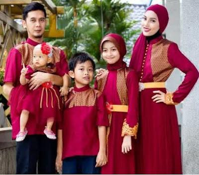 model baju gamis muslimah keluarga
