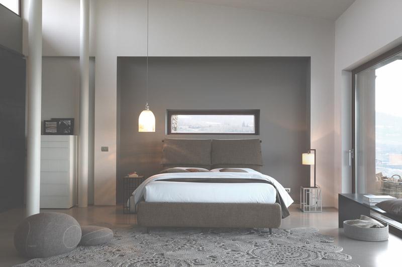 letto matrimoniale FLY Bouclè di Bontempi Casa Letti Design