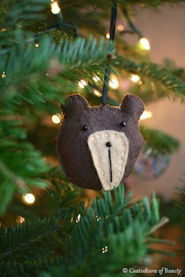 Woodland Animal Felt Ornaments | by CustodiansofBeauty.blogspot.com