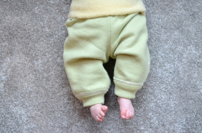 Merino wool trousers, wool baby clothes, Lanacare