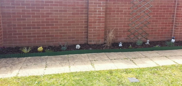 Finished garden border