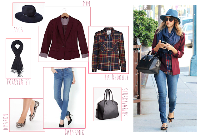 Get the look (for less) spécial Back to School 2015 Jessica Alba