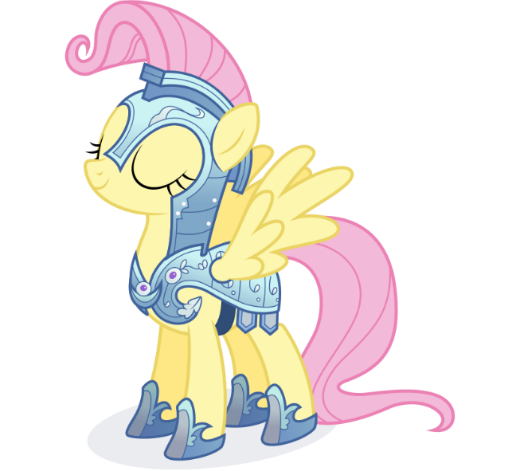 Fluttershy in crystal armor