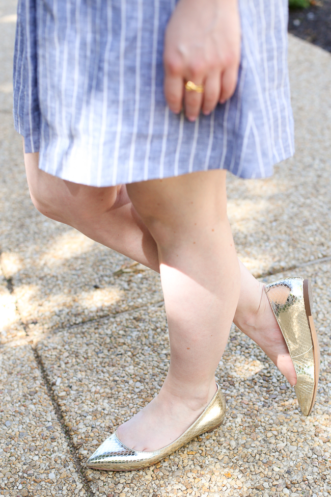 The Gold Flats | Something Good, ANGELA POINTED-TOE FLAT Banana Republic