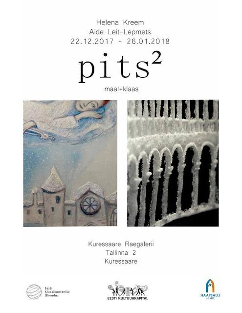 aide leit-Lepmets helena orgla kreem pits ruudus exhibition lace haapsalu glas painting art