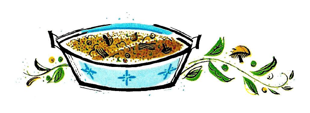 Antique Images: Vintage Restaurant Illustration Food Soup ...  Retro Clip Art Food