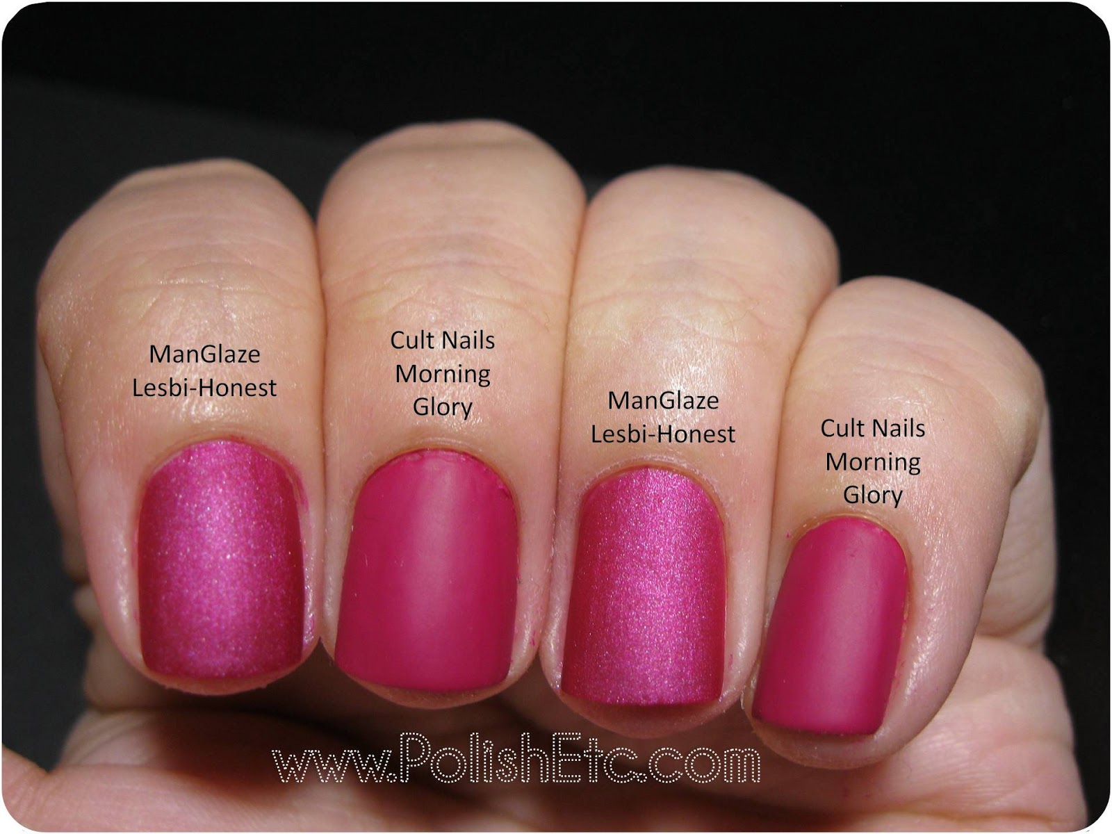 Cult Nails Morning Glory and a Comparison - Polish Etc.