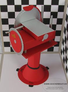 Geschenkbox Überraschungsbox Explosionsbox Berkel Fleischschneidemaschine Schneidemaschine Geldgeschenk Gutschein