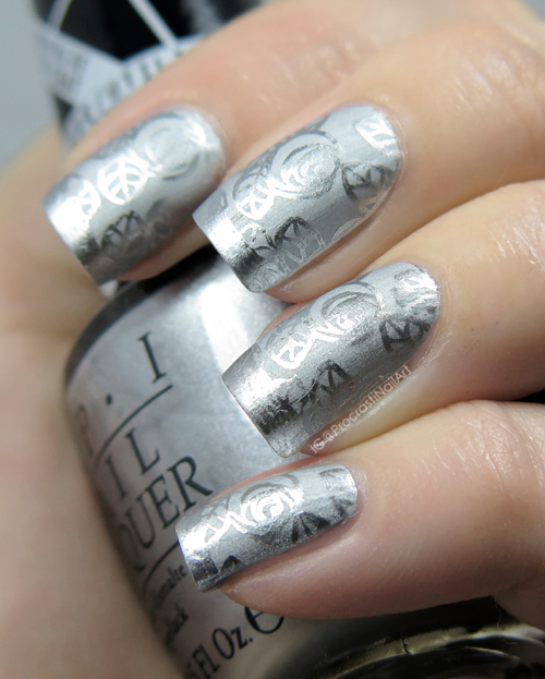 Nail Art // The Digit-al Dozen REDOES Art: Silver Chrome on Chrome ...
