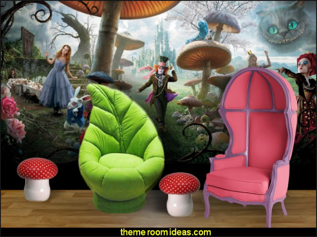alice in wonderland bedroom furniture  Alice in Wonderland bedroom decor - Alice in wonderland themed rooms - design  an Alice in Wonderland Bedroom  - Alice in Wonderland bedroom ideas - Alice in Wonderland bedding - Alice in Wonderlnd wall decals - Alice in Wonderland wall murals - alice in wonderland wallpaper mural -  tea party theme - alice in wonderland bedroom furniture