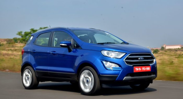 All New 2017 Ford EcoSport on road