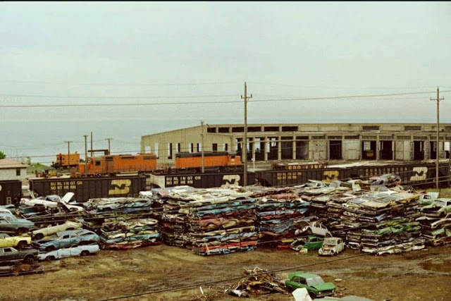 Industrial History: EJ&E Waukegan Roundhouse and Coaling Tower