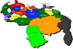 Mapa de los Estados que integran Venezuela
