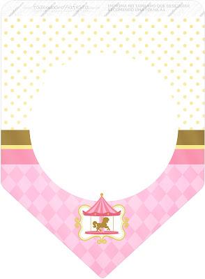 Carrusel en Rosa: Imprimibles Gratis para Fiestas.