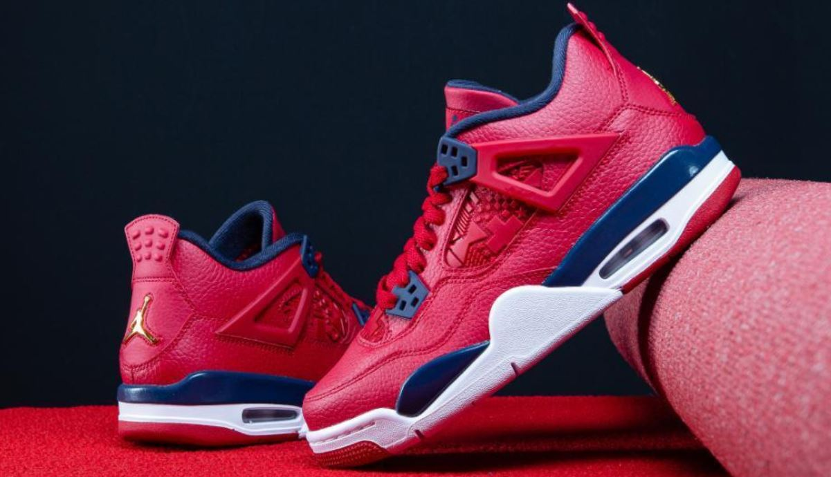 the latest ccb41 f7eee THE SNEAKER ADDICT: 2019 Air Jordan 4 FIBA Red Retro Sneaker ...