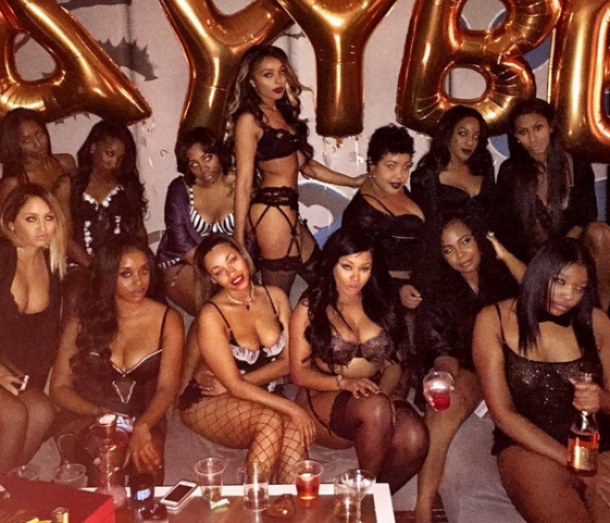 Models Video Vixens Socialites Former Strippers Gather For A Lingerie Party Hot Photos
