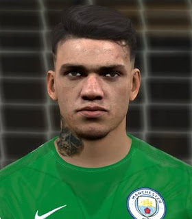 PES 2017 Faces New Year 2018 Facepack ( Ederson Moraes ) by Alief