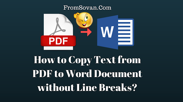 How to Copy Text from PDF to Word without Line Breaks