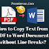 How to Copy Text from PDF to Word Document without Line Breaks?