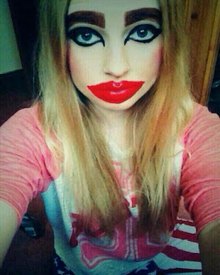 Never go to make these makeups in your life because you will look horrible