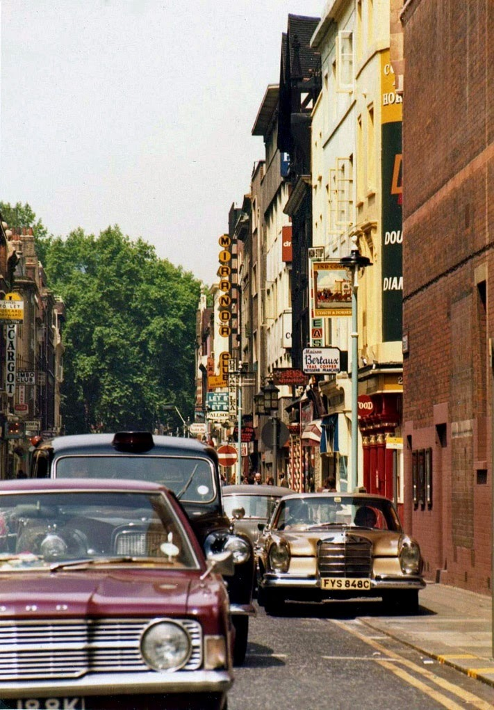 Greek Street, Soho, London 1973