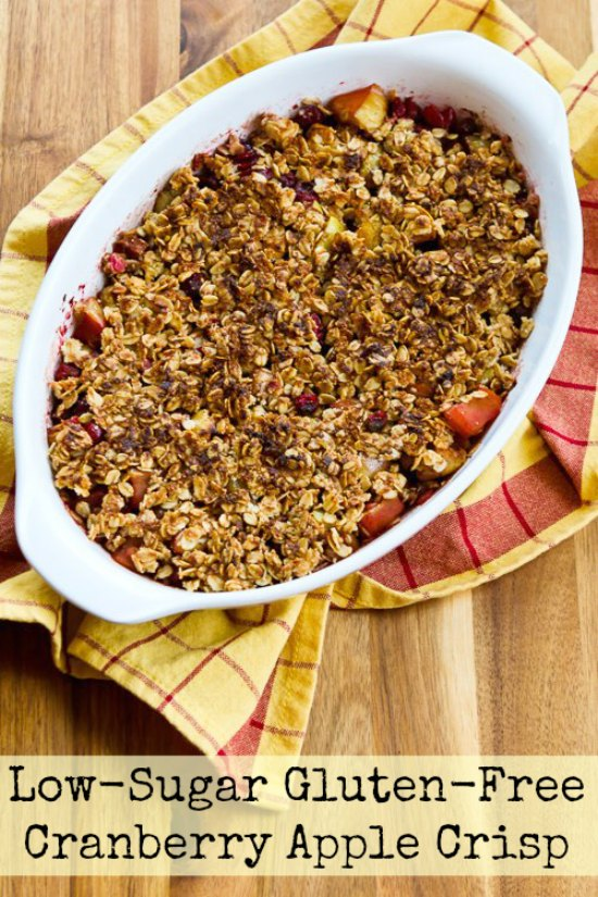 Low-Sugar and Gluten-Free Cranberry Apple Crisp