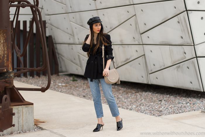 Blogger influencer instagram valencia lifestyle ideas look para combinar zapatos mules jeans customizados