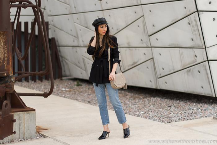 Blogger influencer instagram valencia lifestyle ideas look para combinar zapatos mules jeans customizados