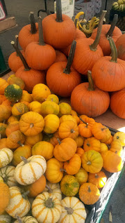Pumpkins at Unions Sq Green Market, New York.